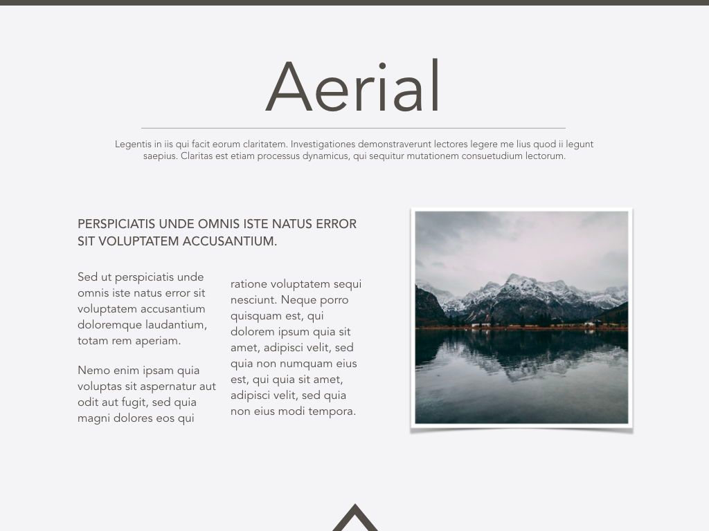 Aerial Powerpoint Presentation Template, Slide 17, 05306, Presentation Templates — PoweredTemplate.com