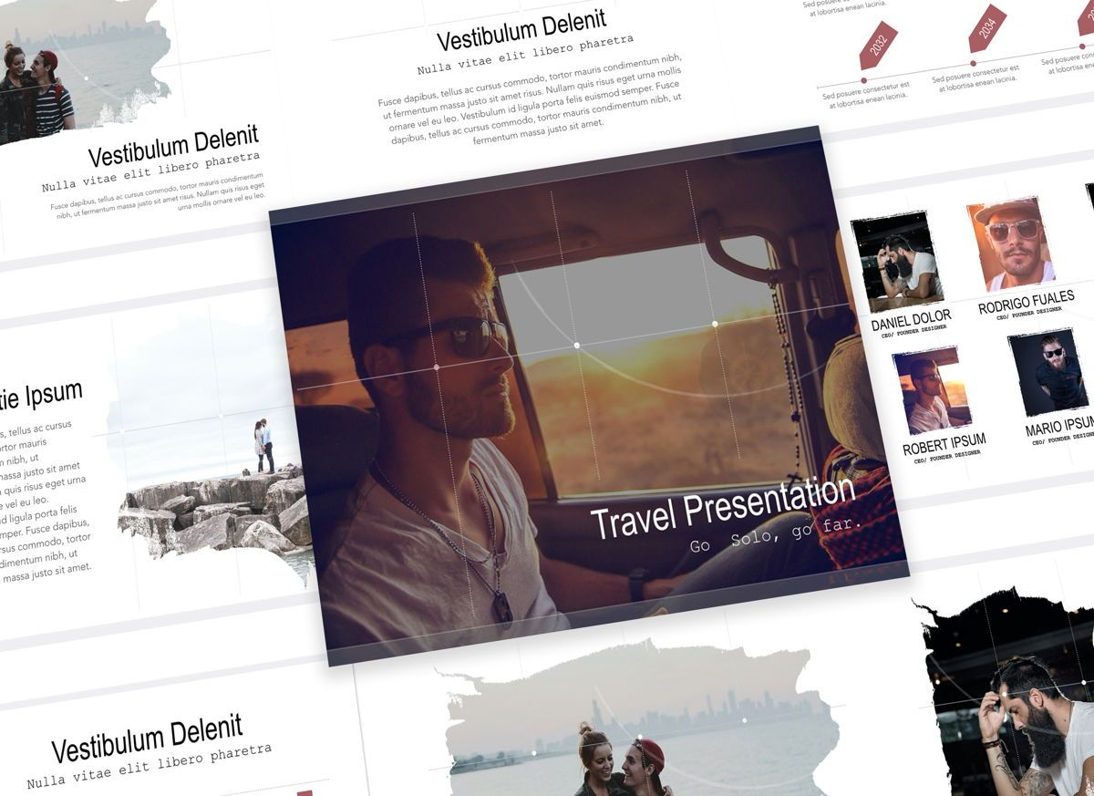 Explorer Powerpoint Presentation Template, 05310, Presentation Templates — PoweredTemplate.com