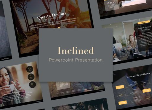 Presentation Templates: Inclined Powerpoint Presentation Template #05313