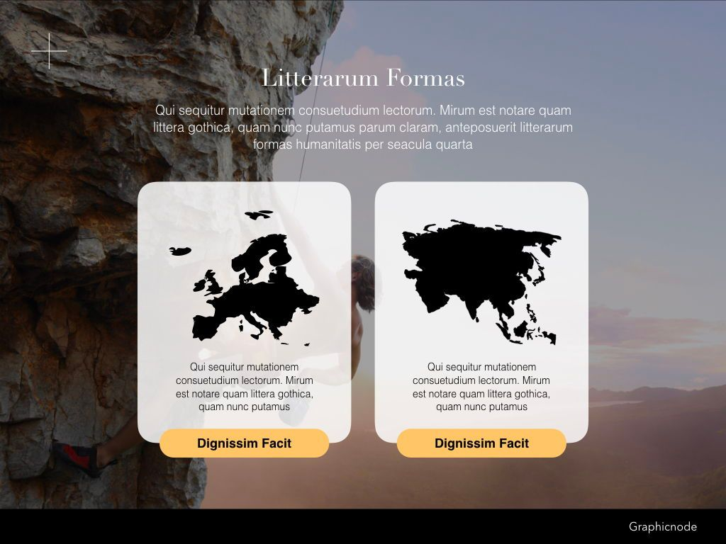 Inclined Powerpoint Presentation Template, Slide 11, 05313, Presentation Templates — PoweredTemplate.com