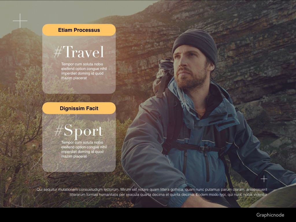 Inclined Powerpoint Presentation Template, Slide 18, 05313, Presentation Templates — PoweredTemplate.com