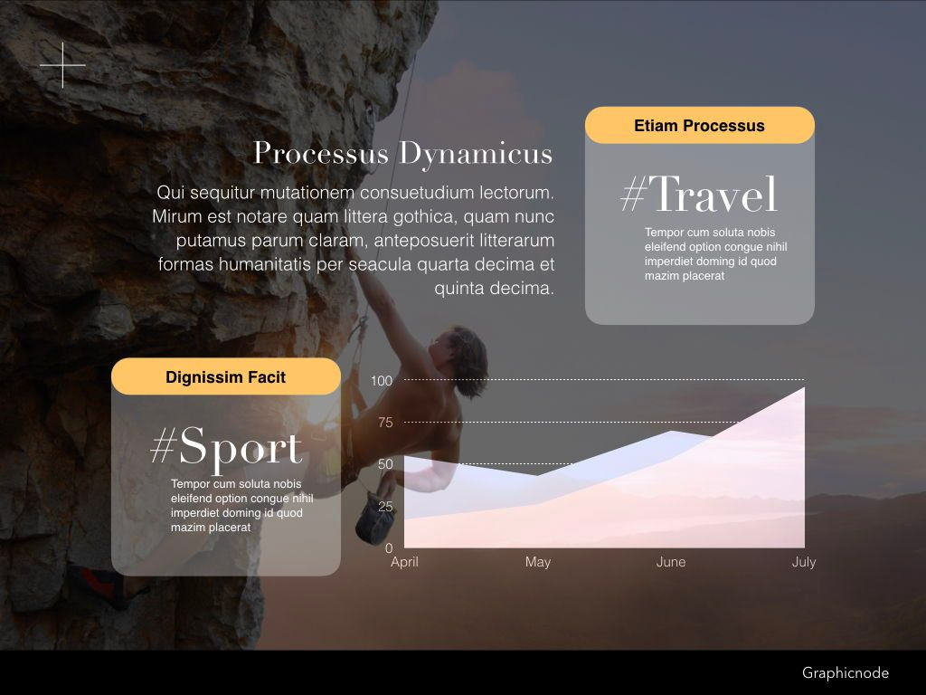 Inclined Powerpoint Presentation Template, Slide 19, 05313, Presentation Templates — PoweredTemplate.com