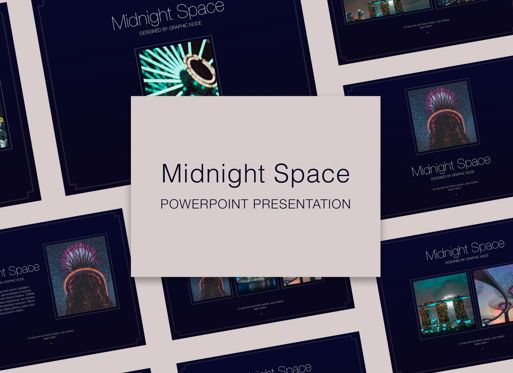 Presentation Templates: Midnight Space Powerpoint Presentation Template #05314