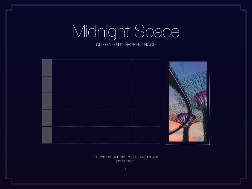 Midnight Space Powerpoint Presentation Template, Slide 11, 05314, Presentation Templates — PoweredTemplate.com