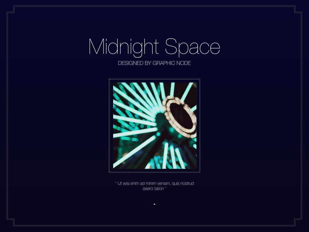 Midnight Space Powerpoint Presentation Template, Slide 12, 05314, Presentation Templates — PoweredTemplate.com