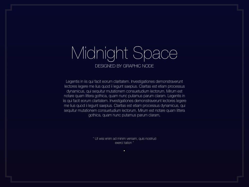 Midnight Space Powerpoint Presentation Template, Slide 13, 05314, Presentation Templates — PoweredTemplate.com