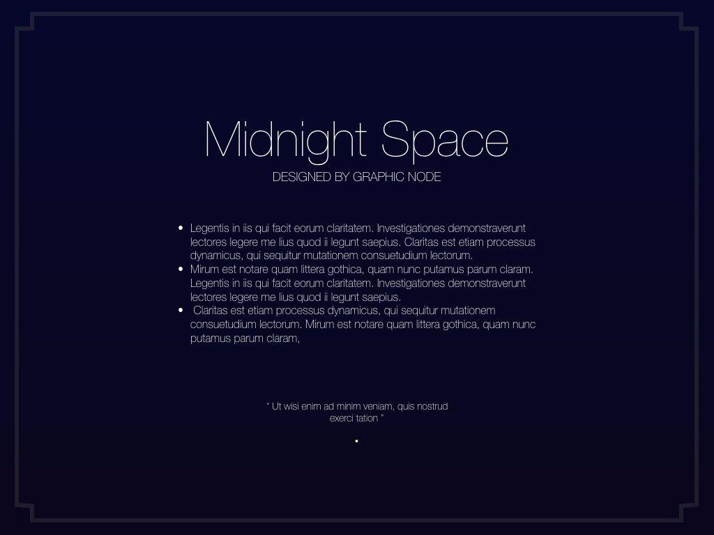 Midnight Space Powerpoint Presentation Template, Slide 14, 05314, Presentation Templates — PoweredTemplate.com