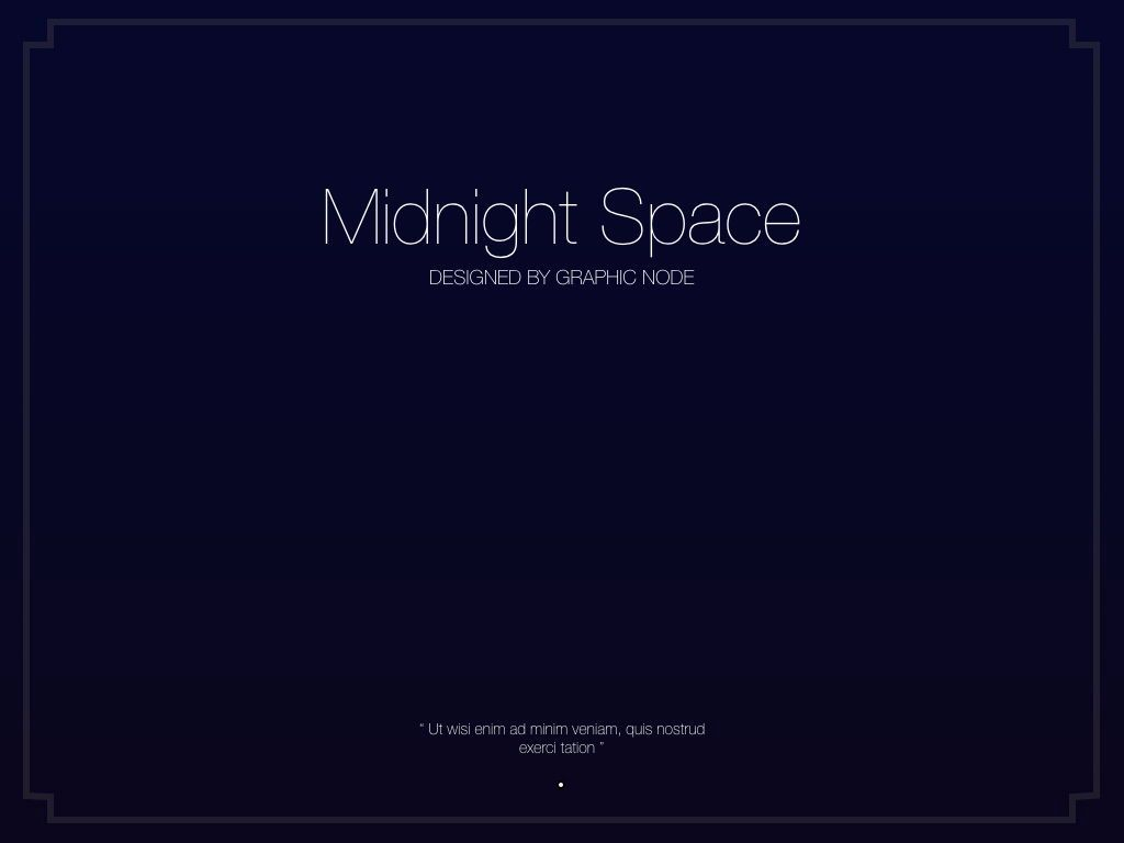 Midnight Space Powerpoint Presentation Template, Slide 17, 05314, Presentation Templates — PoweredTemplate.com