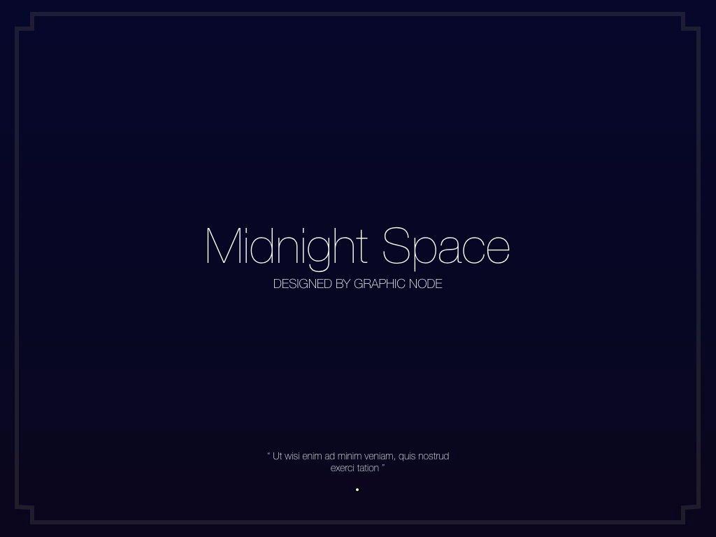 Midnight Space Powerpoint Presentation Template, Slide 18, 05314, Presentation Templates — PoweredTemplate.com