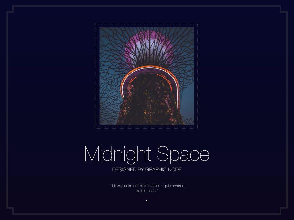 Midnight Space Powerpoint Presentation Template, Slide 19, 05314, Presentation Templates — PoweredTemplate.com