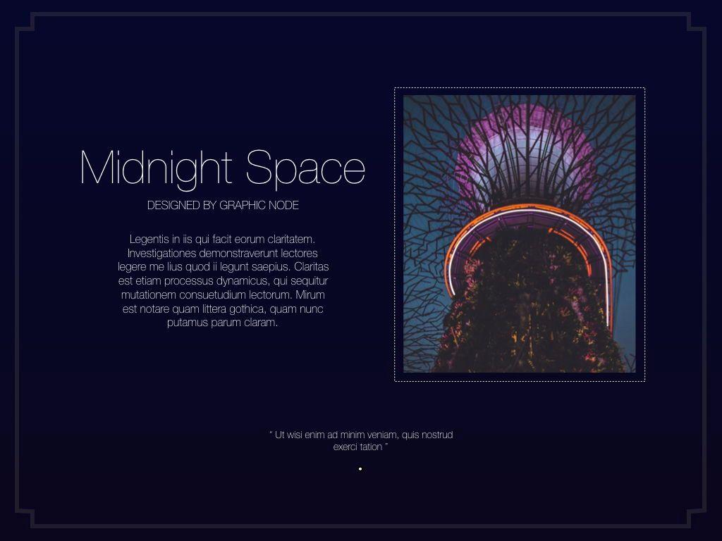 Midnight Space Powerpoint Presentation Template, Slide 3, 05314, Presentation Templates — PoweredTemplate.com