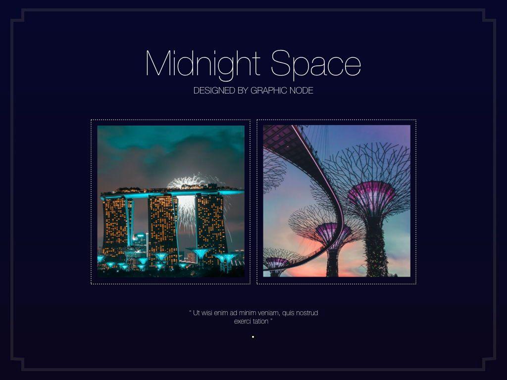 Midnight Space Powerpoint Presentation Template, Slide 4, 05314, Presentation Templates — PoweredTemplate.com