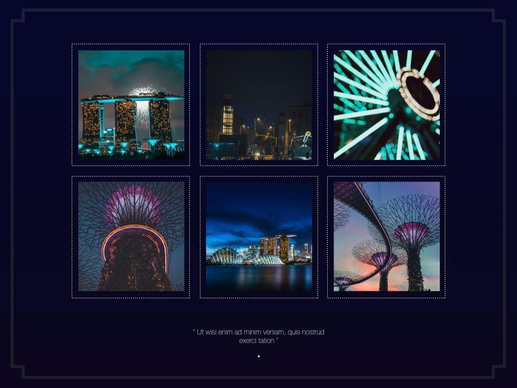 Midnight Space Powerpoint Presentation Template, Slide 5, 05314, Presentation Templates — PoweredTemplate.com
