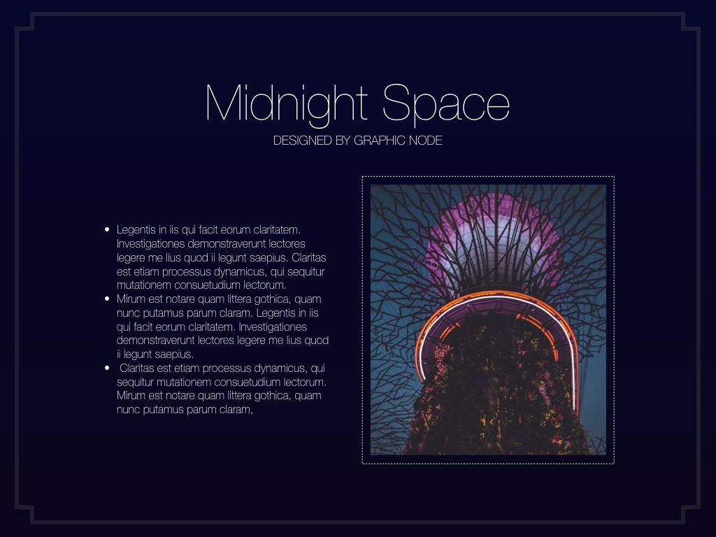 Midnight Space Powerpoint Presentation Template, Slide 6, 05314, Presentation Templates — PoweredTemplate.com