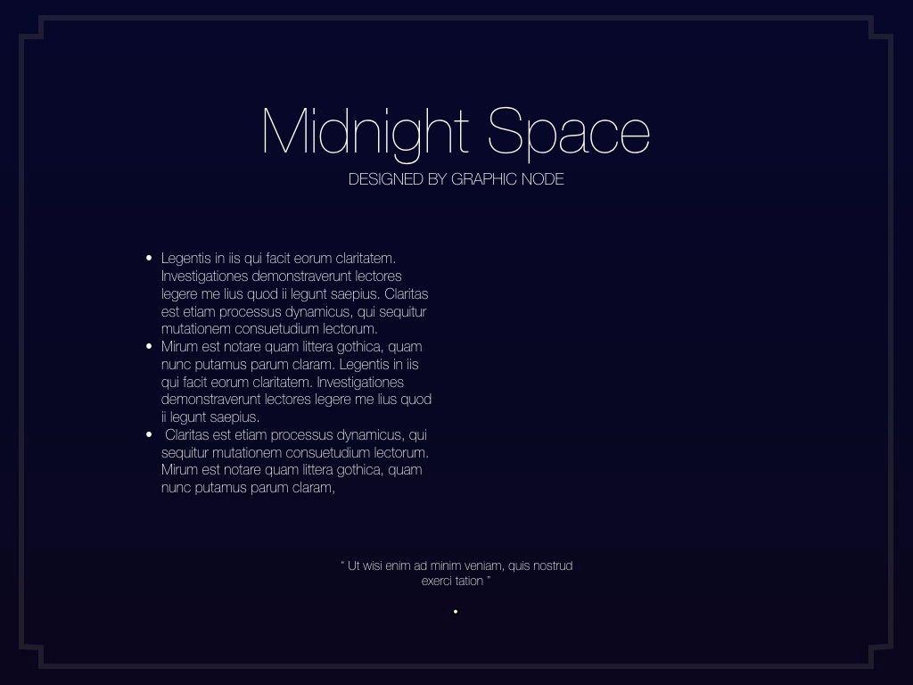 Midnight Space Powerpoint Presentation Template, Slide 8, 05314, Presentation Templates — PoweredTemplate.com