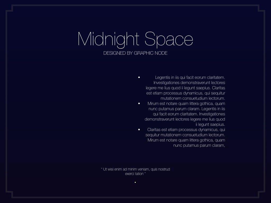 Midnight Space Powerpoint Presentation Template, Slide 9, 05314, Presentation Templates — PoweredTemplate.com