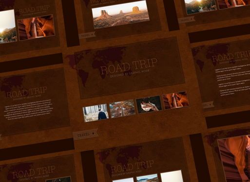 Presentation Templates: Road Trip Powerpoint Presentation Template #05317