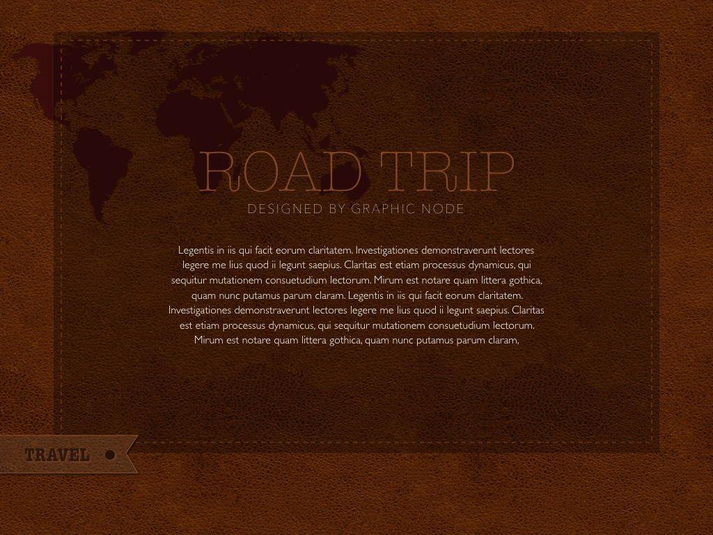 Road Trip Powerpoint Presentation Template, Slide 15, 05317, Presentation Templates — PoweredTemplate.com