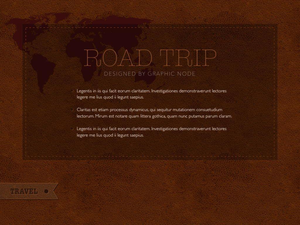 Road Trip Powerpoint Presentation Template, Slide 17, 05317, Presentation Templates — PoweredTemplate.com