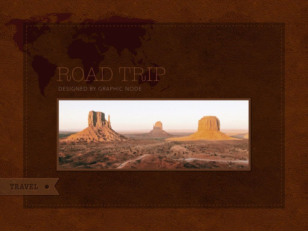 Road Trip Powerpoint Presentation Template, Slide 4, 05317, Presentation Templates — PoweredTemplate.com