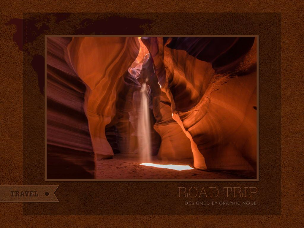 Road Trip Powerpoint Presentation Template, Slide 6, 05317, Presentation Templates — PoweredTemplate.com