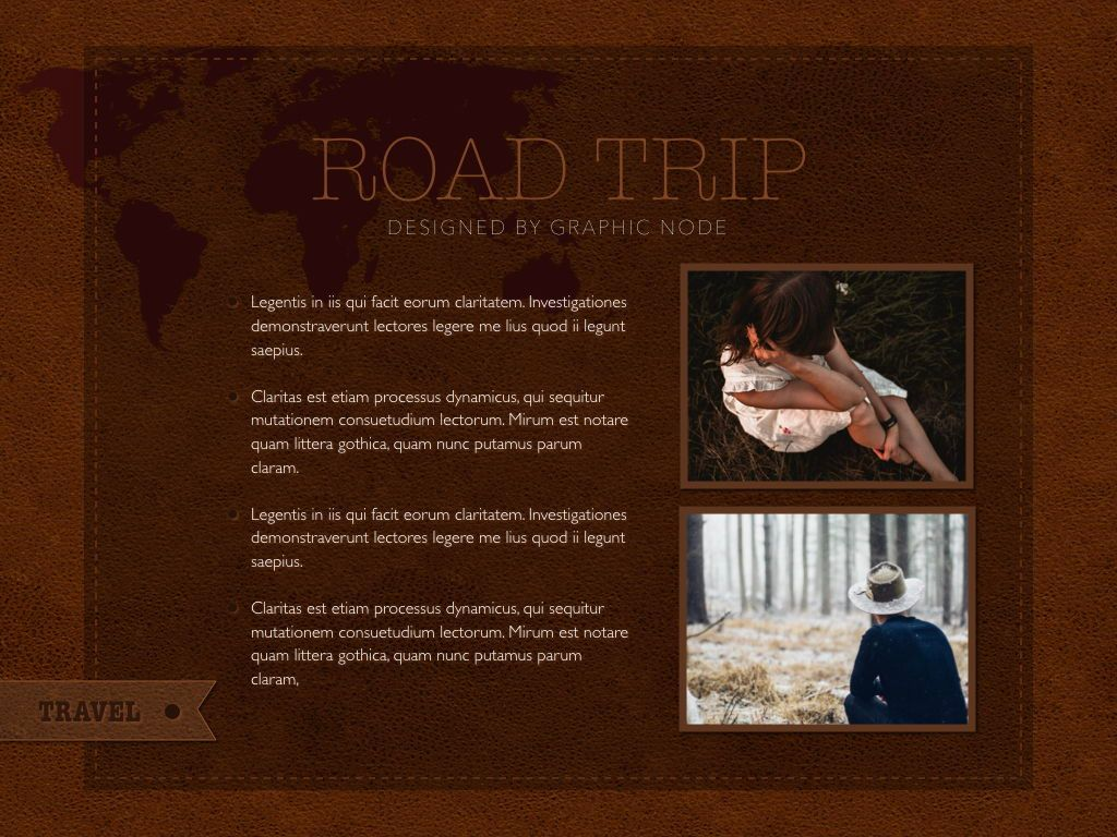 Road Trip Powerpoint Presentation Template, Slide 7, 05317, Presentation Templates — PoweredTemplate.com