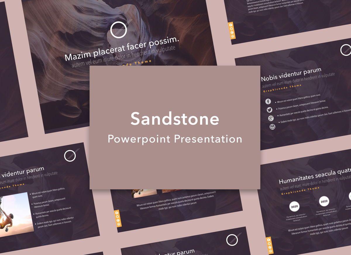 Sandstone Powerpoint Presentation Template, 05318, Presentation Templates — PoweredTemplate.com