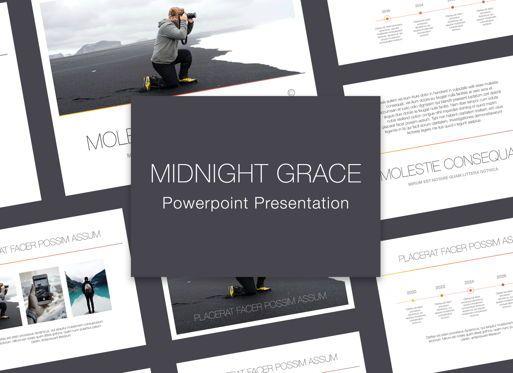 Presentation Templates: Minimal Grace Powerpoint Presentation Template #05319