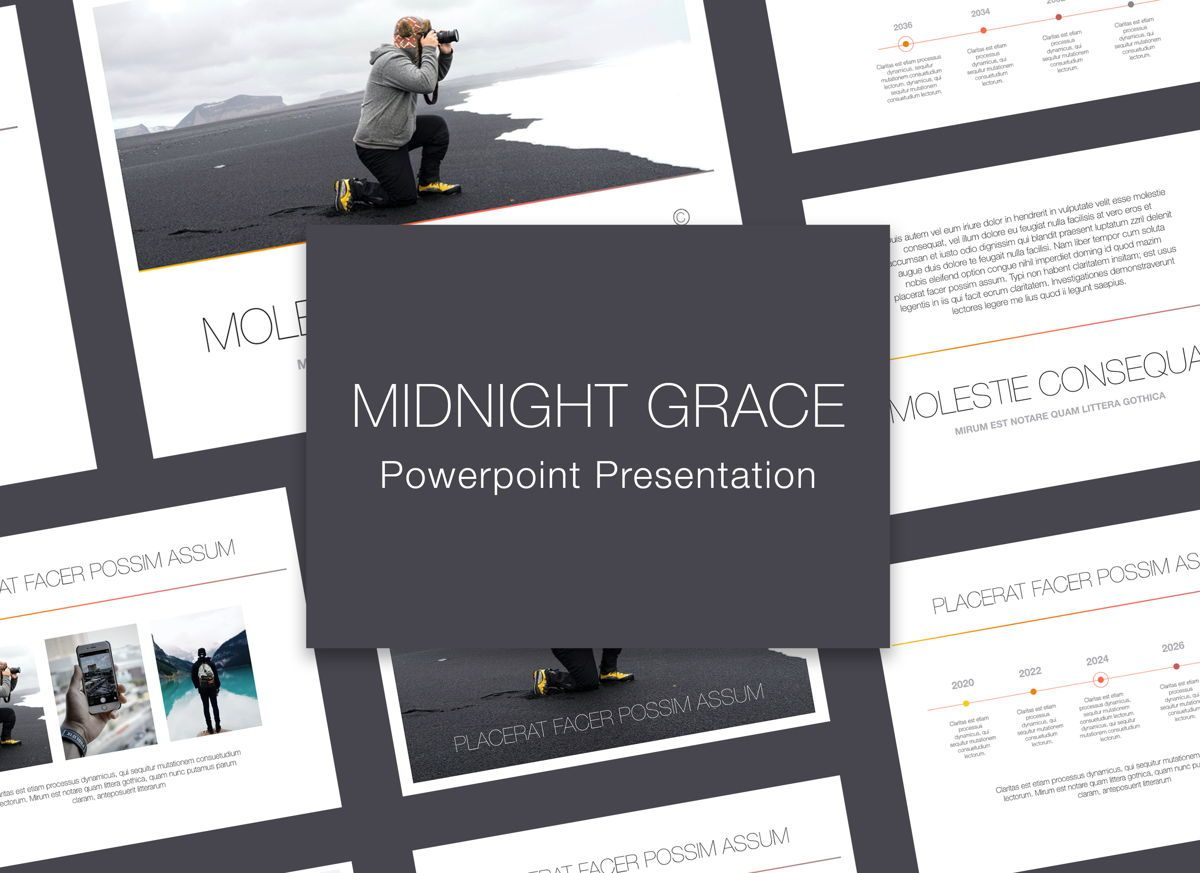 Minimal Grace Powerpoint Presentation Template, 05319, Presentation Templates — PoweredTemplate.com