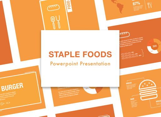 Presentation Templates: Staple Foods Powerpoint Presentation Template #05320