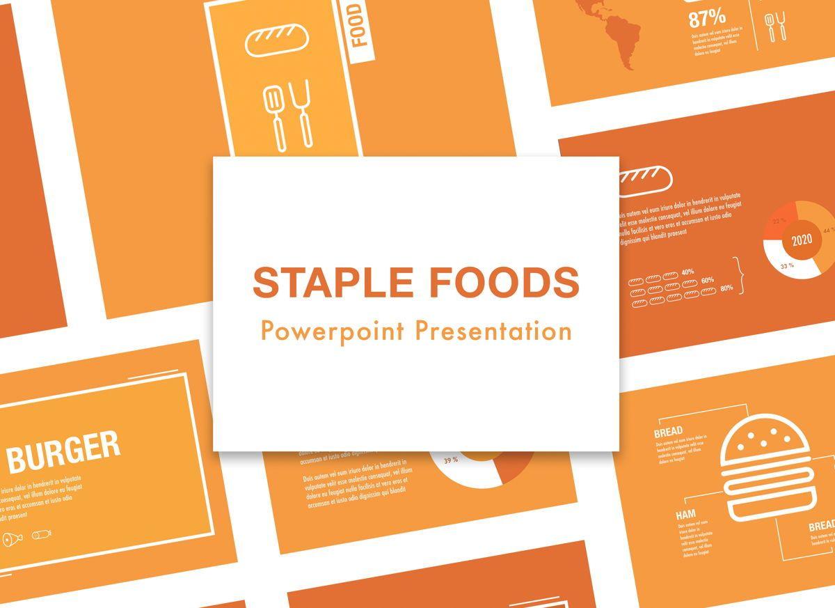 Staple Foods Powerpoint Presentation Template, 05320, Presentation Templates — PoweredTemplate.com
