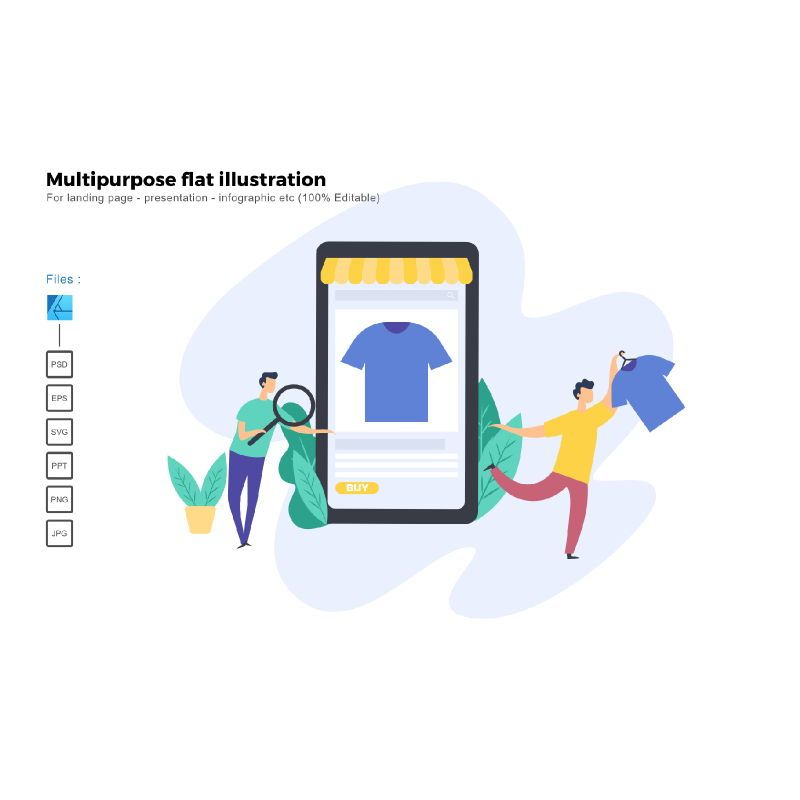 Multipurpose modern flat illustration design business concept, 05322, Infographics — PoweredTemplate.com