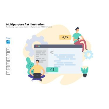 Infographics: Multipurpose modern flat illustration design business concept #05324