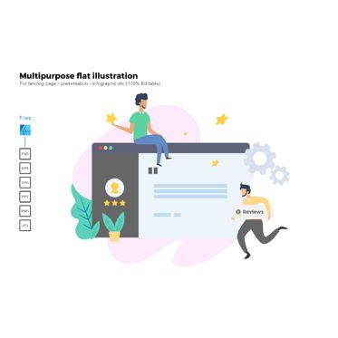 Infographics: Multipurpose modern flat illustration design business concept #05325