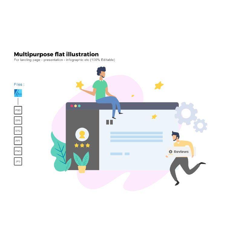 Multipurpose modern flat illustration design business concept, 05325, Infographics — PoweredTemplate.com