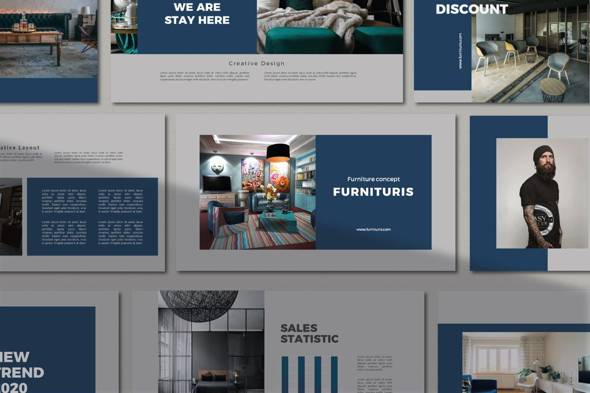 Furnituris - PowerPoint Template, 05327, Presentation Templates — PoweredTemplate.com