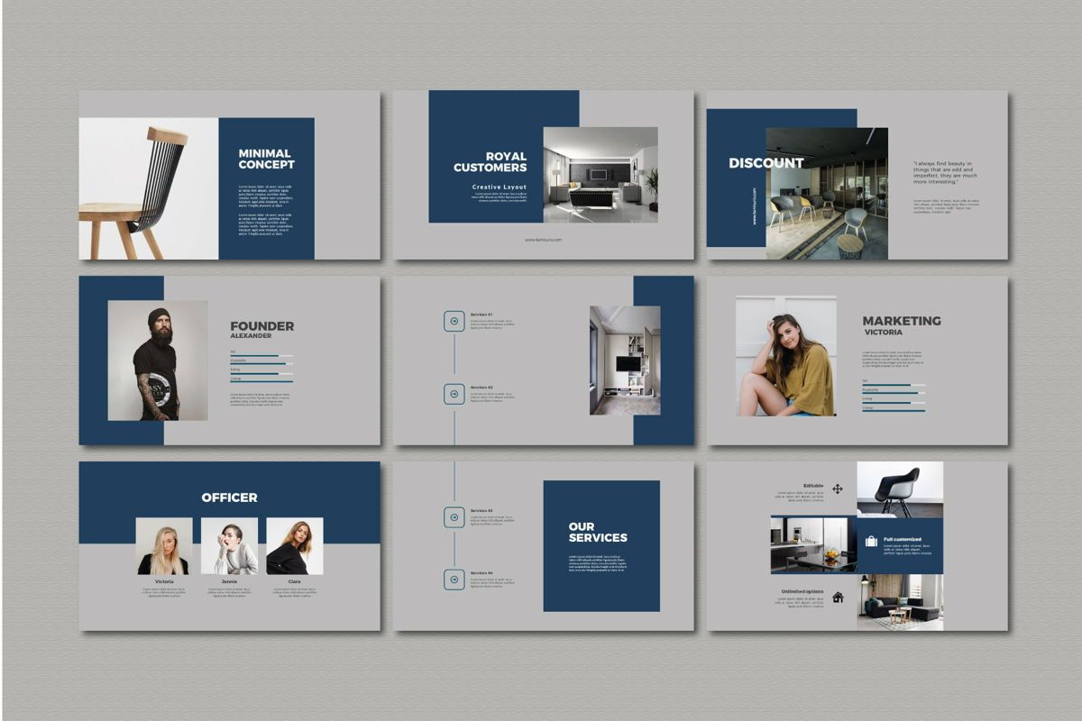 Furnituris - PowerPoint Template, Slide 3, 05327, Presentation Templates — PoweredTemplate.com