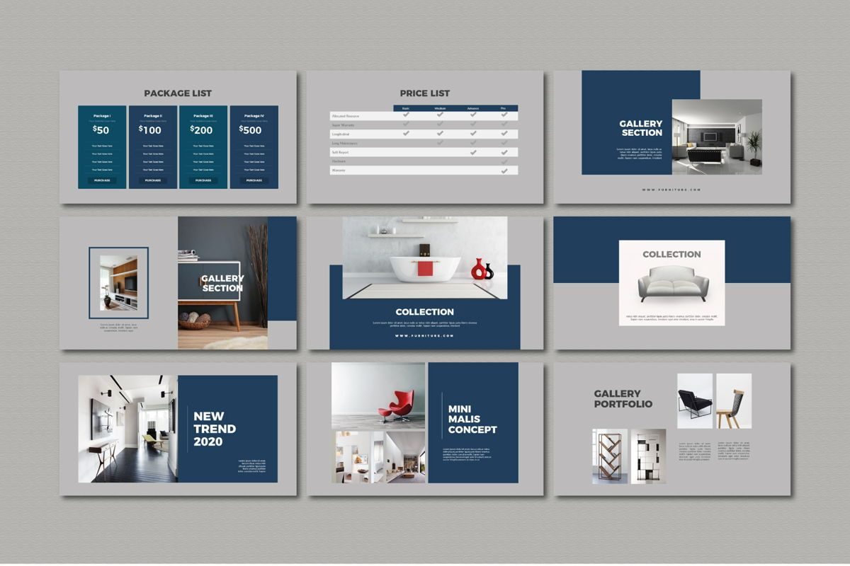 Furnituris - PowerPoint Template, Slide 4, 05327, Presentation Templates — PoweredTemplate.com
