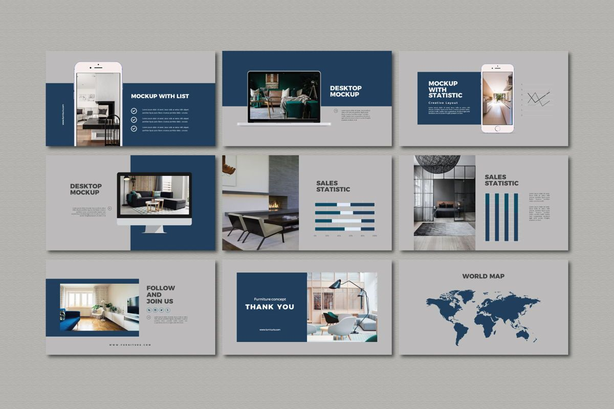 Furnituris - PowerPoint Template, Slide 5, 05327, Presentation Templates — PoweredTemplate.com