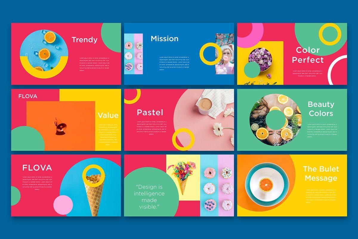 Flova - PowerPoint Template, Slide 4, 05330, Presentation Templates — PoweredTemplate.com