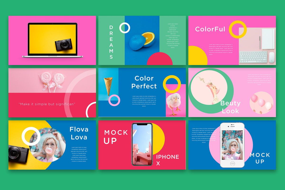 Flova - PowerPoint Template, Slide 5, 05330, Presentation Templates — PoweredTemplate.com