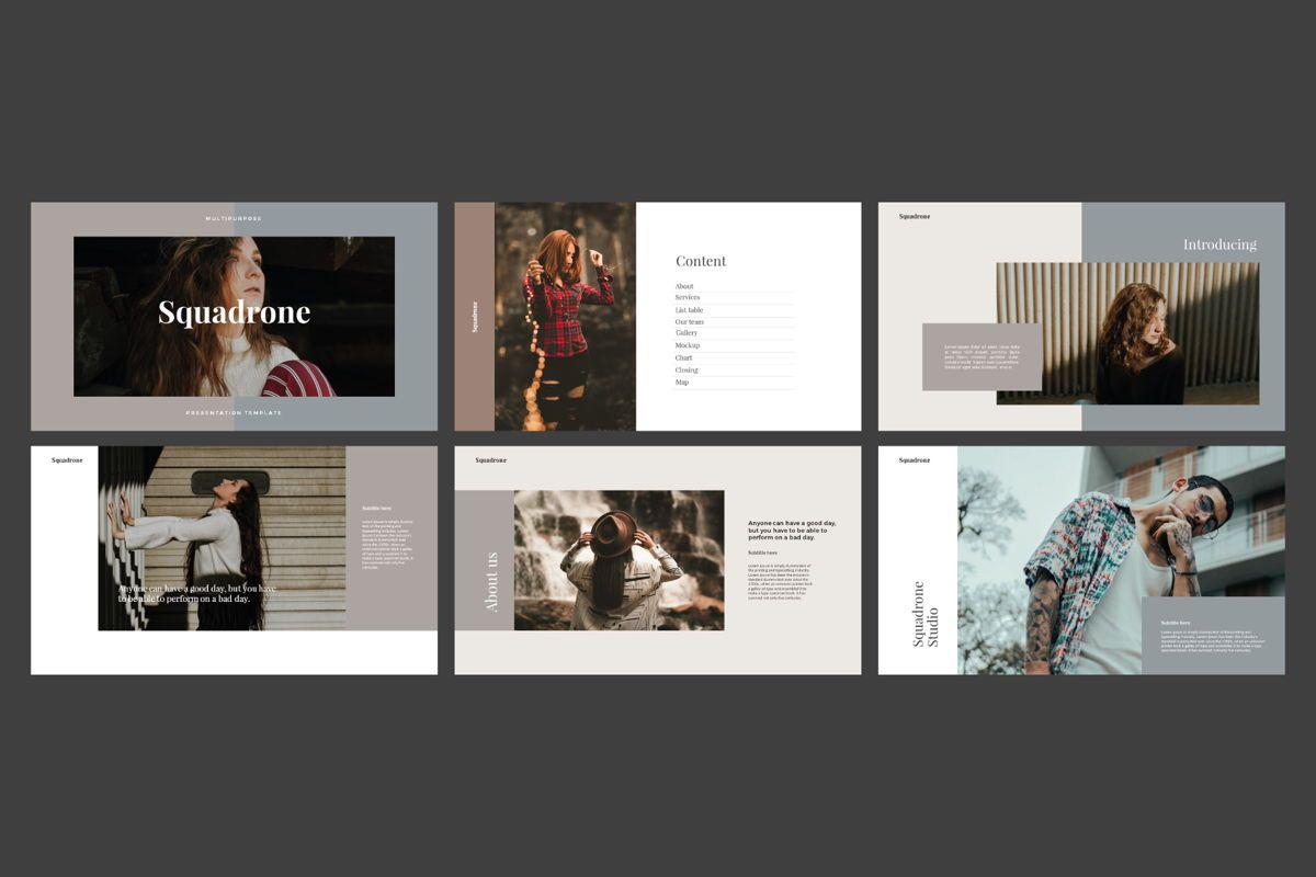 Squadrone - Google Slides, Slide 3, 05332, Presentation Templates — PoweredTemplate.com