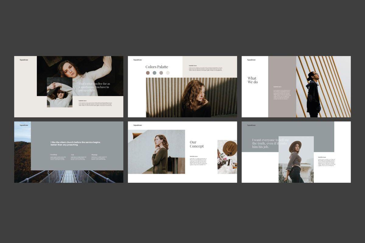 Squadrone - Google Slides, Slide 4, 05332, Presentation Templates — PoweredTemplate.com