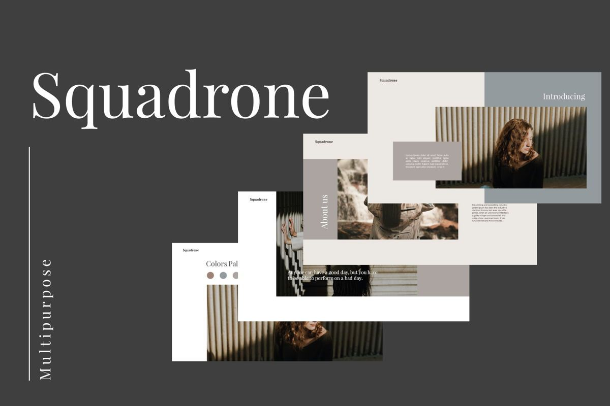 Squadrone - Keynote Template, 05336, Presentation Templates — PoweredTemplate.com