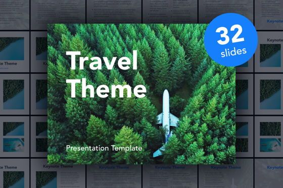 Presentation Templates: Avid Traveler Keynote Template #05339