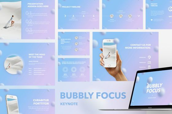 Presentation Templates: Bubbly Focus Keynote Template #05340