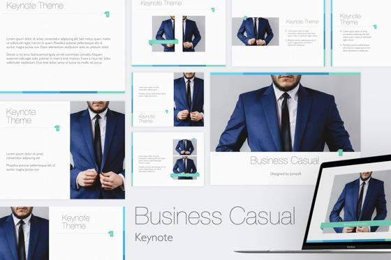 Presentation Templates: Business Casual Keynote Template #05345
