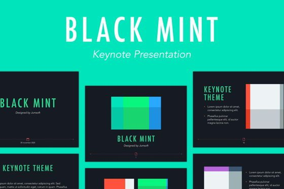 Presentation Templates: Black Mint Keynote Template #05347