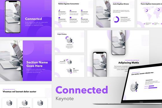 Presentation Templates: Connected Keynote Template #05350