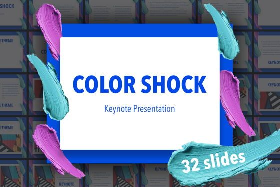Presentation Templates: Color Shock Keynote Template #05356